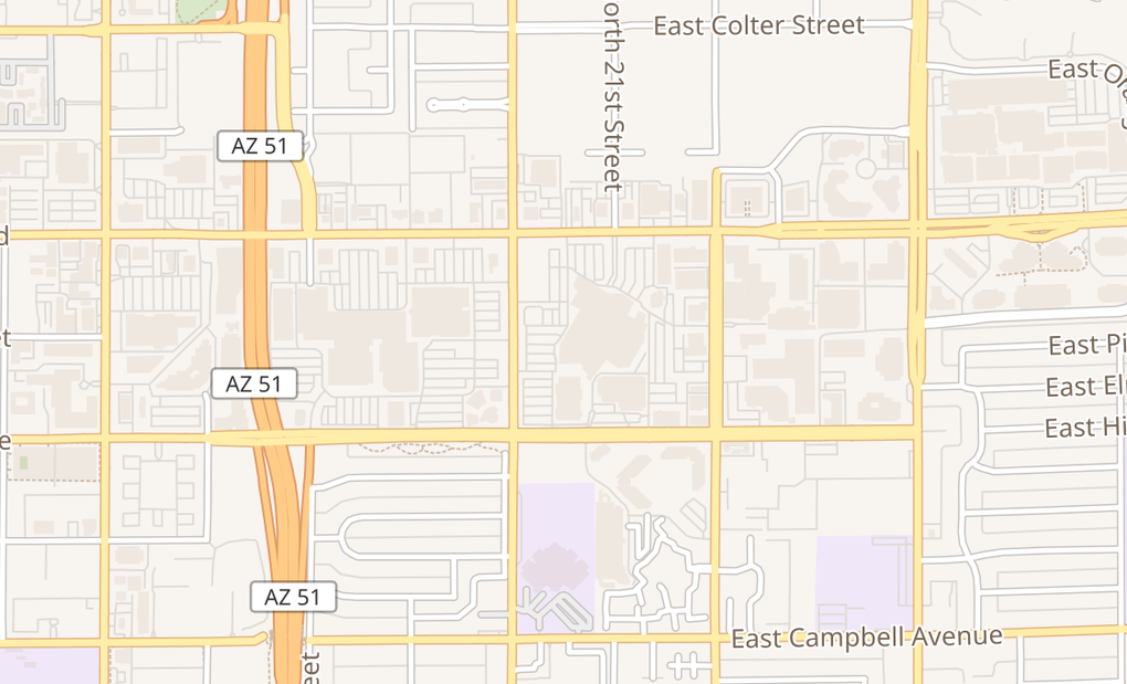 map of 4823 N 20Th St Ste A32Phoenix, AZ 85016
