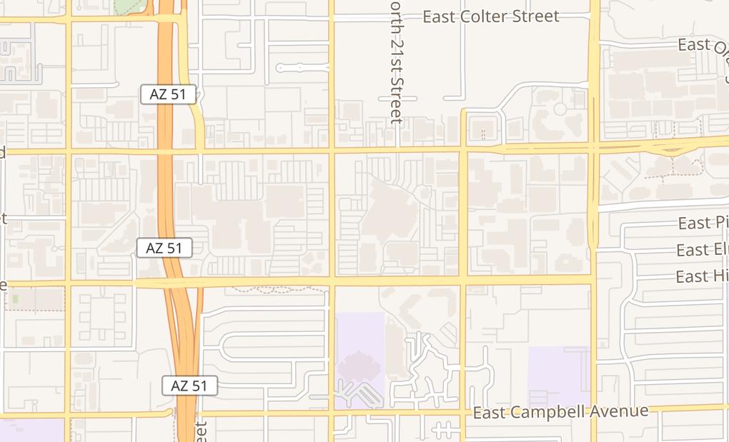 map of 4823 N 20Th St Ste A32Phoenix, AZ 85016
