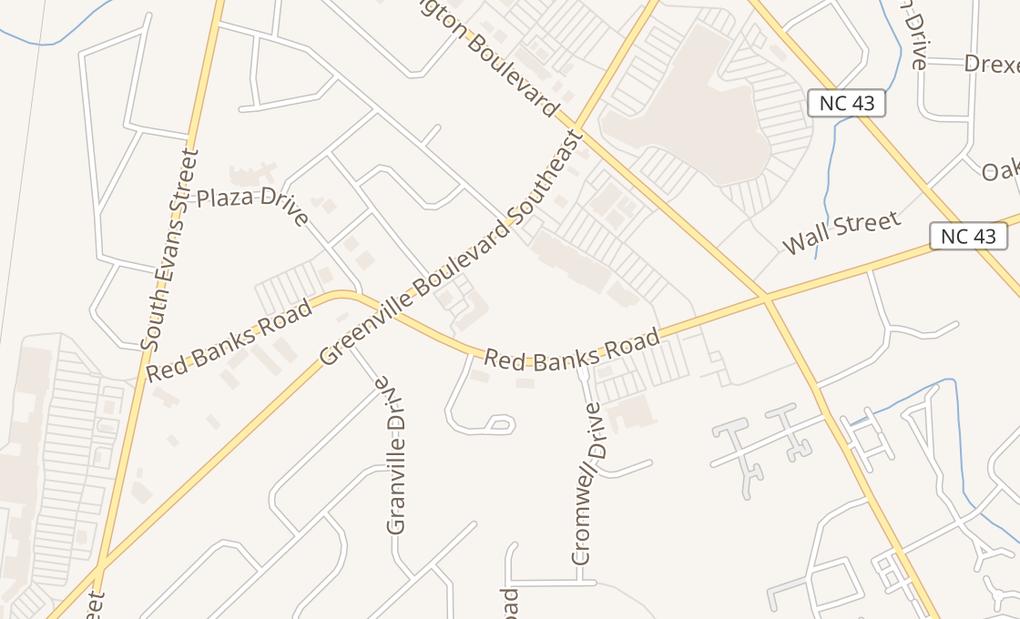map of 530 Se Greenville Blvd Ste AGreenville, NC 27858