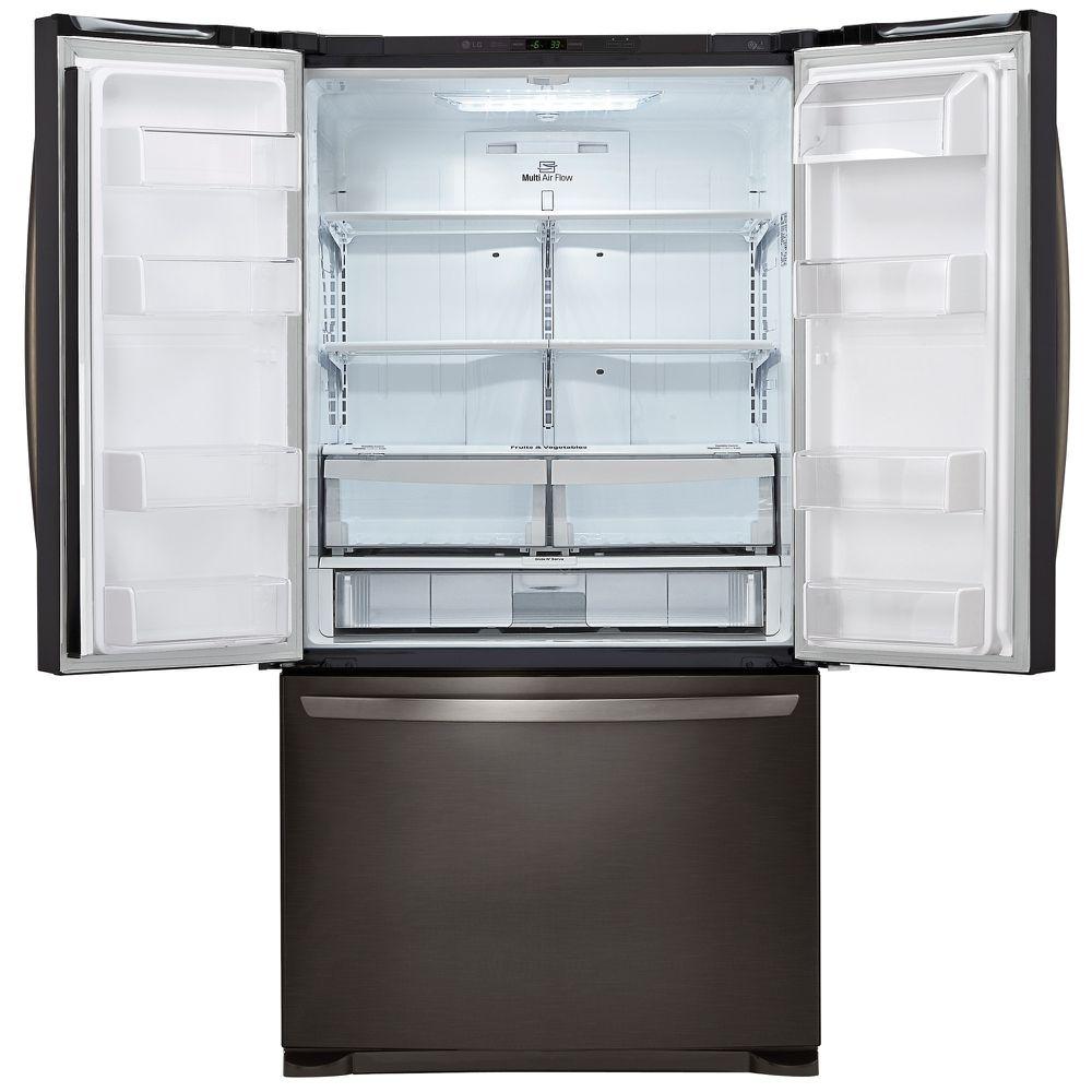 LG LFCS25426D 25.4 cu. ft. 3-Door French Door Refrigerator – Black ...
