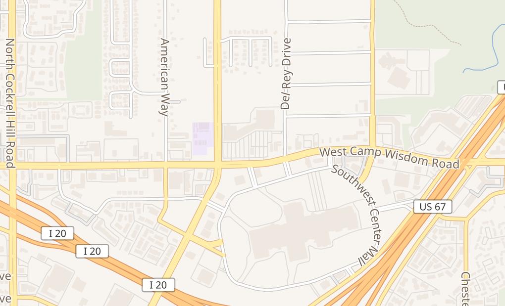 map of 3703 W Camp Wisdom RdDallas, TX 75237