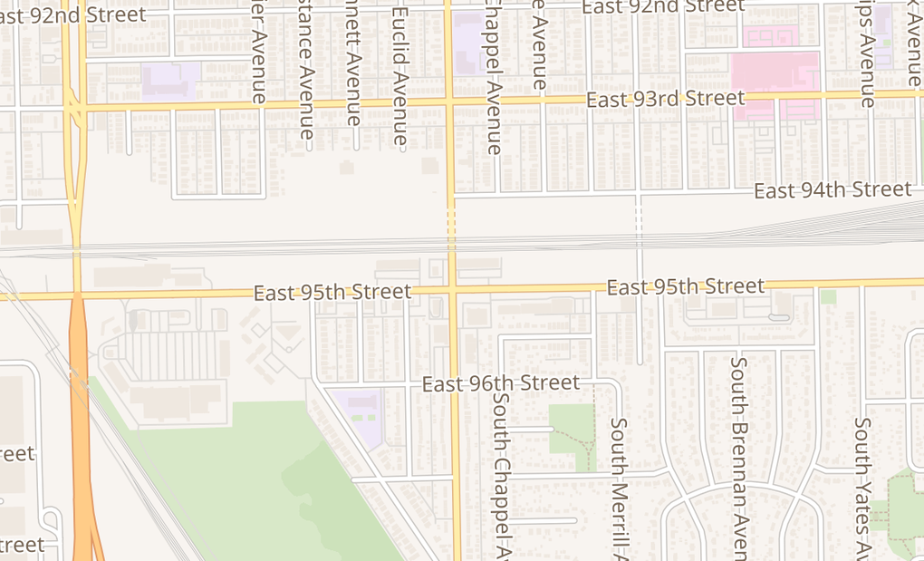 map of 2002 E 95Th StChicago, IL 60617