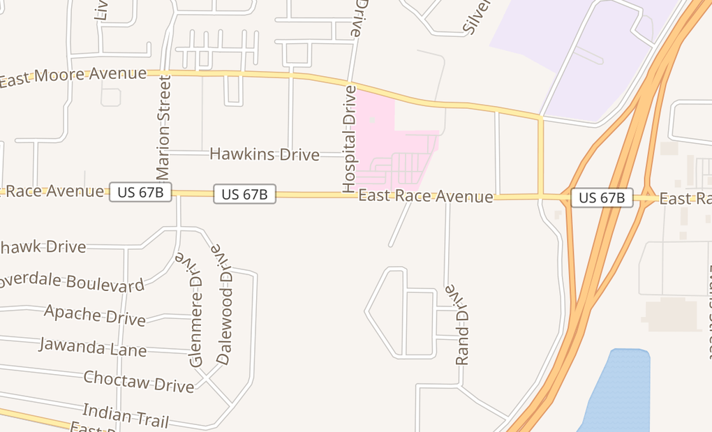 map of 3113 E Race Ave Ste 4Searcy, AR 72143