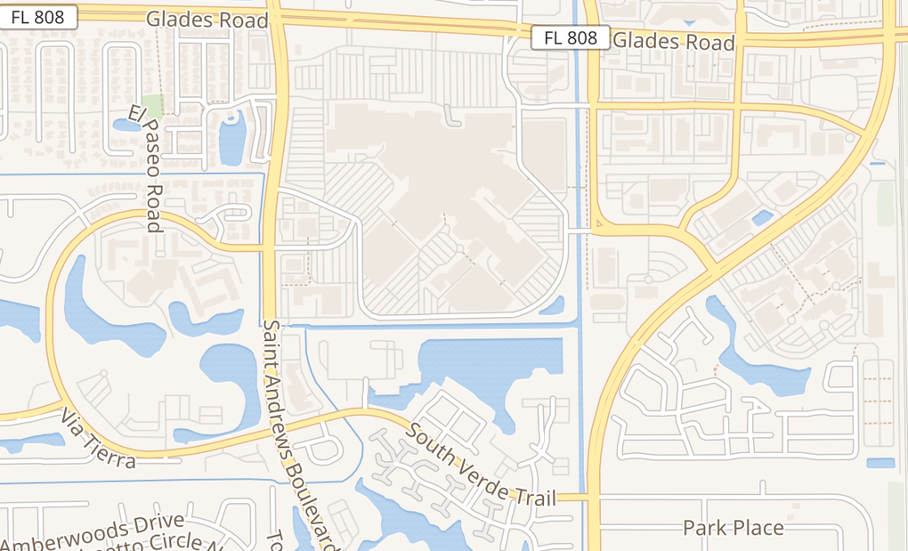map of 6000 Glades Rd # K123Boca Raton, FL 33431
