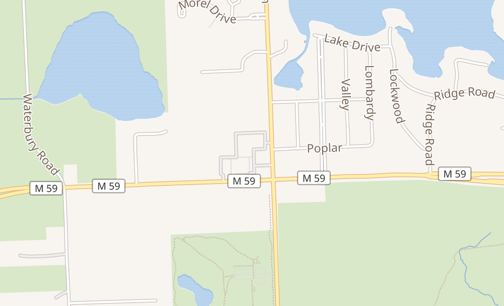map of 2823 E Highland Rd Ste 101Highland, MI 48356
