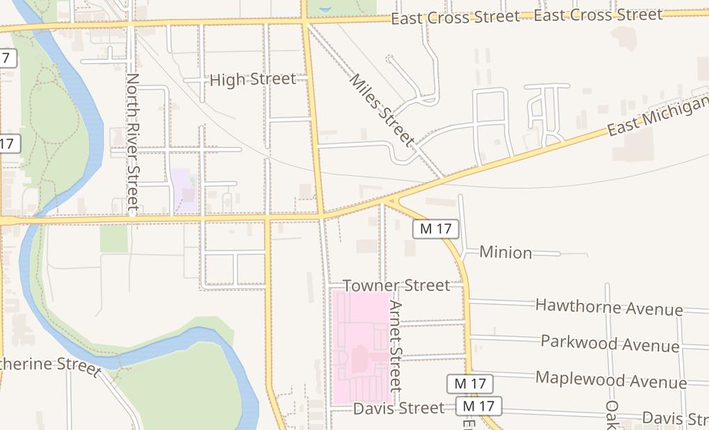 map of 616 E Michigan AveYpsilanti, MI 48198