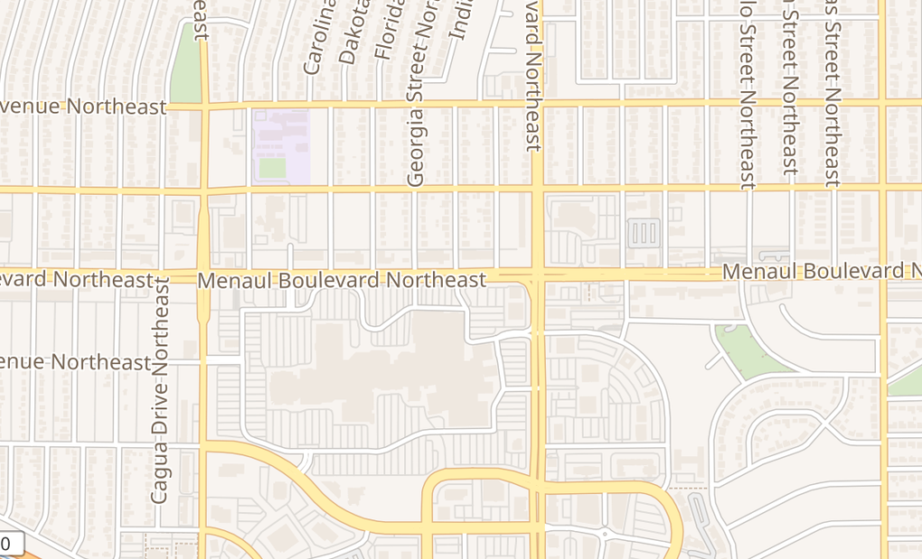 map of 6600 Menaul Blvd Ne Ste C006Albuquerque, NM 87110