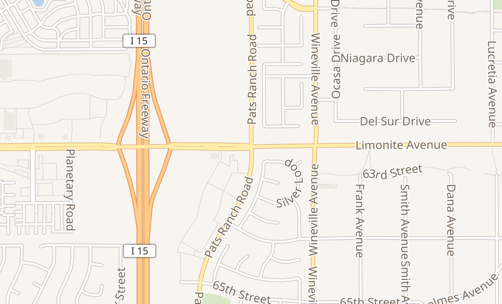 map of 6205 Pats Ranch Rd Ste CMira Loma, CA 91752