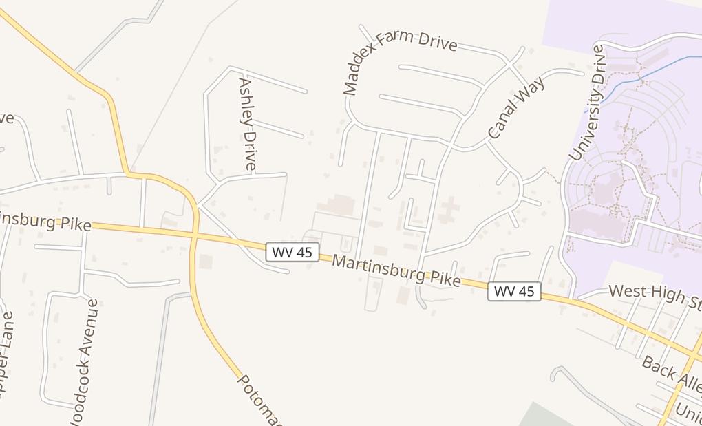 map of 89 Maddex Square DrShepherdstown, WV 25443