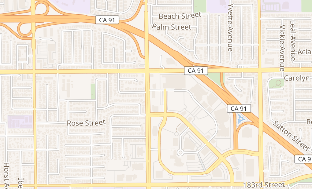 map of 17550 Bloomfield Ave Ste PB7Cerritos, CA 90703