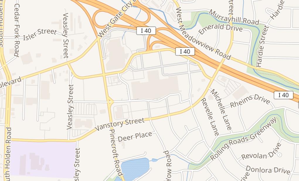 map of 410 Four Seasons Town Ctr Spc 221Greensboro, NC 27407