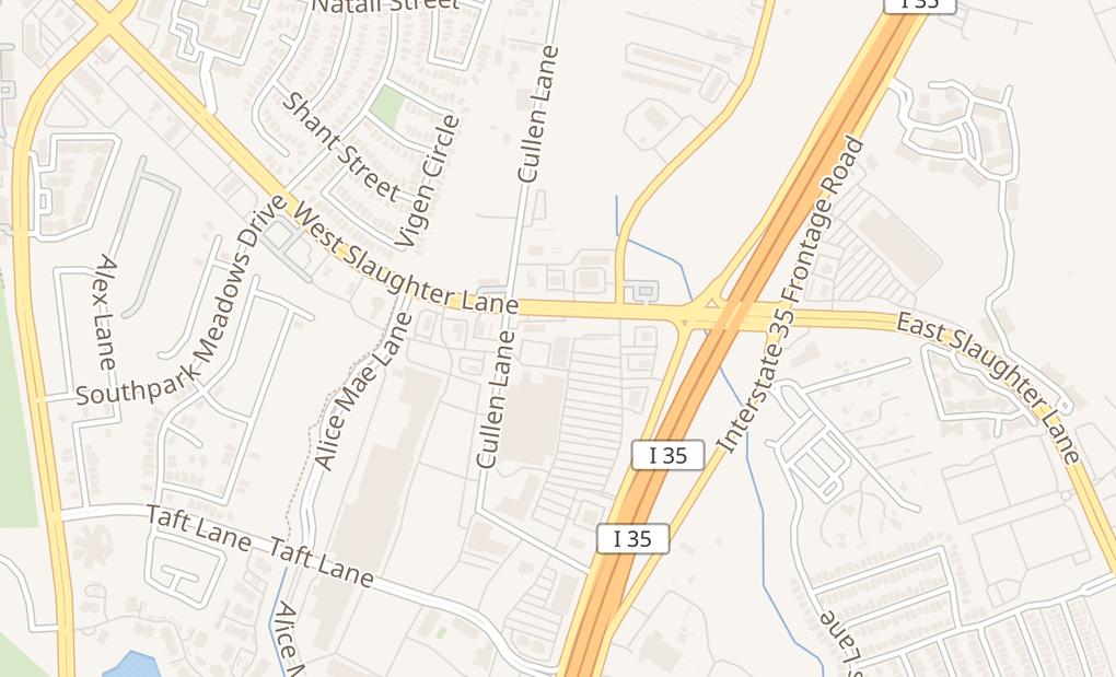 map of 9300 S Ih 35 Service Rd SbAustin, TX 78748