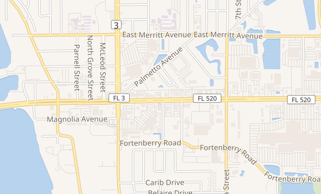 map of 150 E Merritt Island CswyMerritt Island, FL 32952