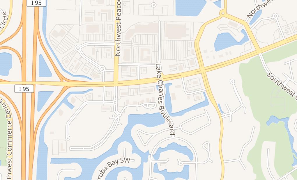 map of 1728 Sw Saint Lucie West BlvdPort Saint Lucie, FL 34986