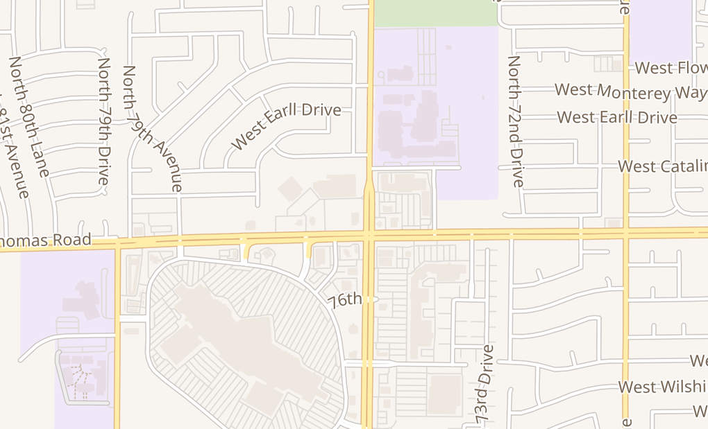 map of 7510 W Thomas Rd Ste 108Phoenix, AZ 85033
