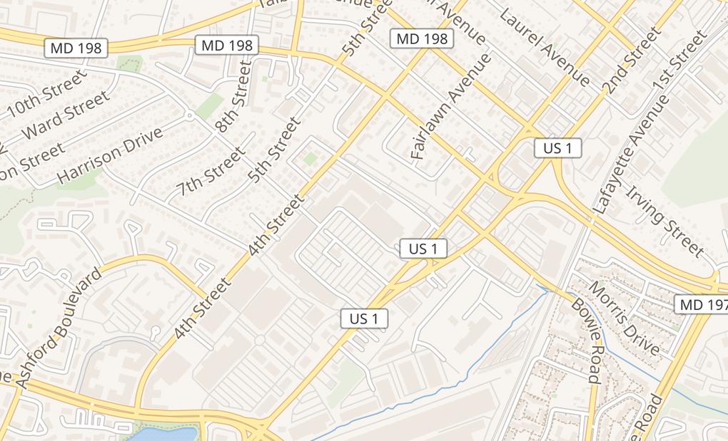 map of 349 Montrose AveLaurel, MD 20707