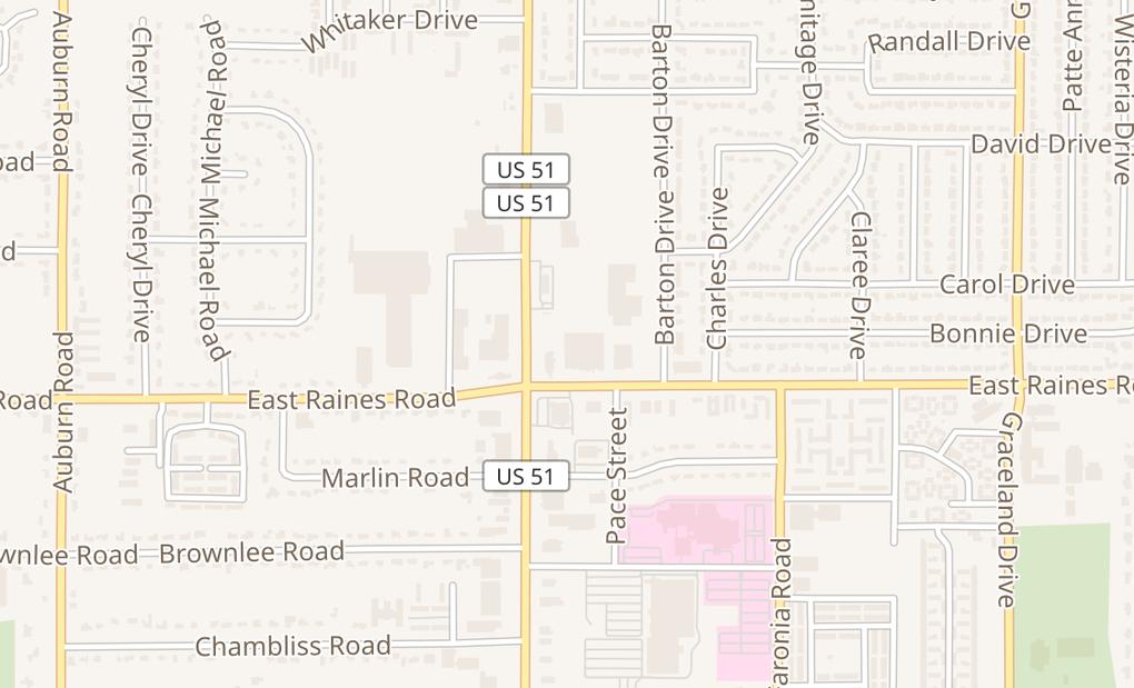 map of 4128 Elvis Presley Blvd #104Memphis, TN 38116
