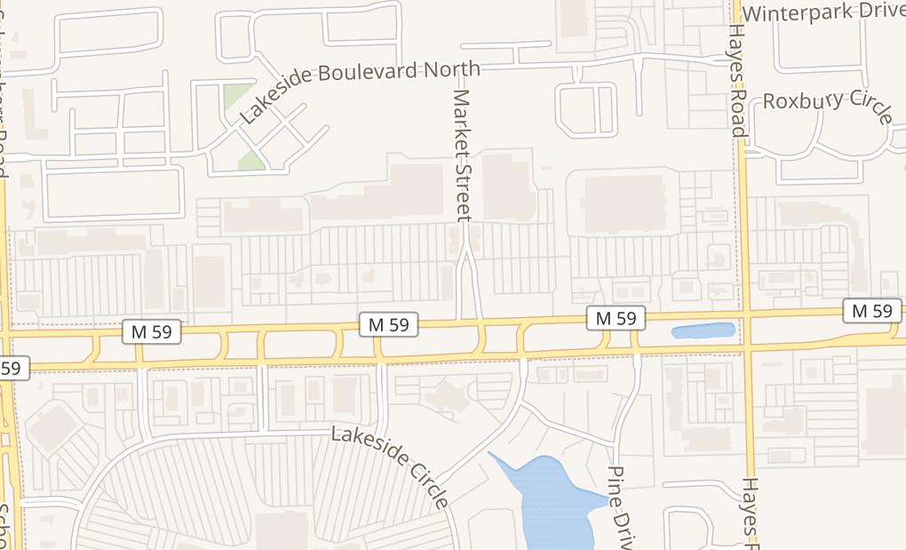 map of 45185 Market StShelby Township, MI 48315