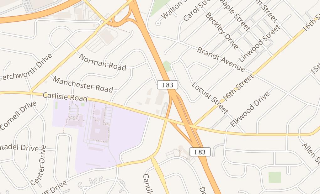 map of 1104 Carlisle RdCamp Hill, PA 17011