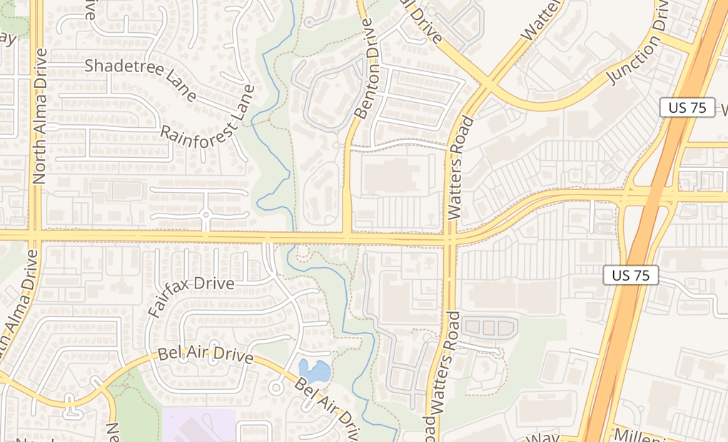 map of 1008 W Mcdermott Dr Ste 300Allen, TX 75013