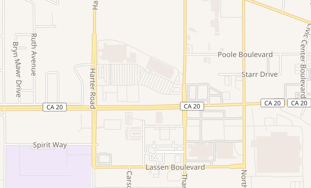 map of 1050 Tharp Rd Ste 100Yuba City, CA 95993