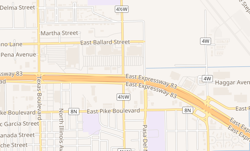 map of 801 E Expressway 83 Ste AWeslaco, TX 78599