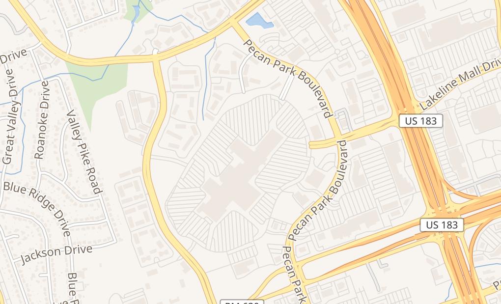 map of 11200 Lakeline Mall Dr Ste L1Cedar Park, TX 78613