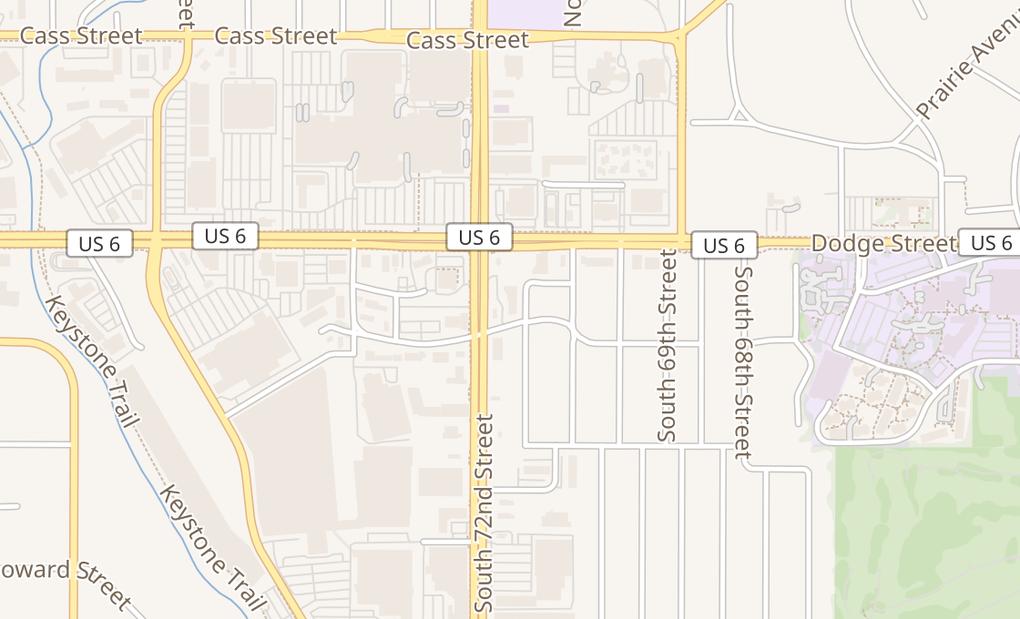 map of 209 S 72Nd StOmaha, NE 68114