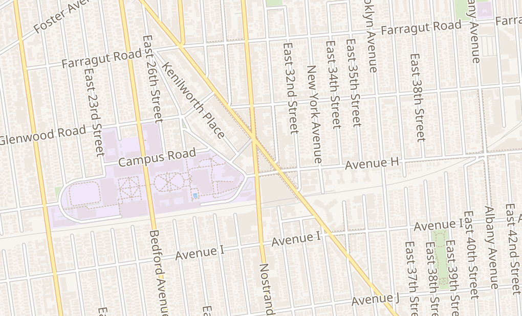 map of 1572 Flatbush AveBrooklyn, NY 11210