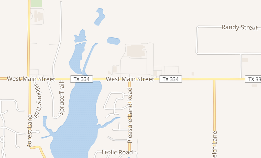 map of 1303 W Main StGun Barrel City, TX 75156