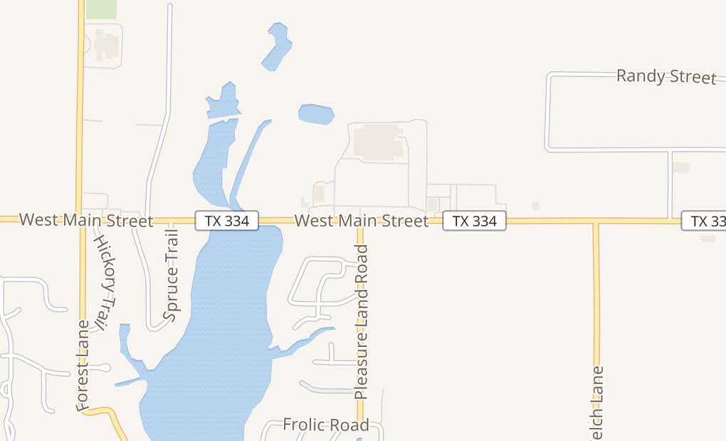 map of 1303 W Main StGun Barrel City, TX 75156