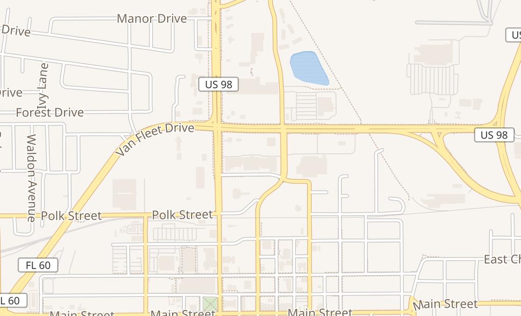 map of 285 E Van Fleet DrBartow, FL 33830