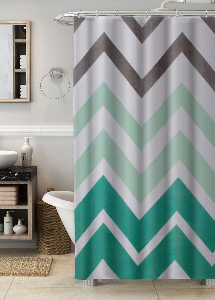 Essential Home Chevron Shower Curtain