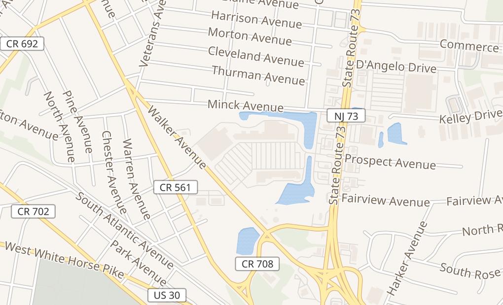map of 200 N Route 73West Berlin, NJ 08091