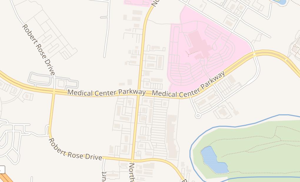 map of 1970 Medical Center Pkwy Ste JMurfreesboro, TN 37129