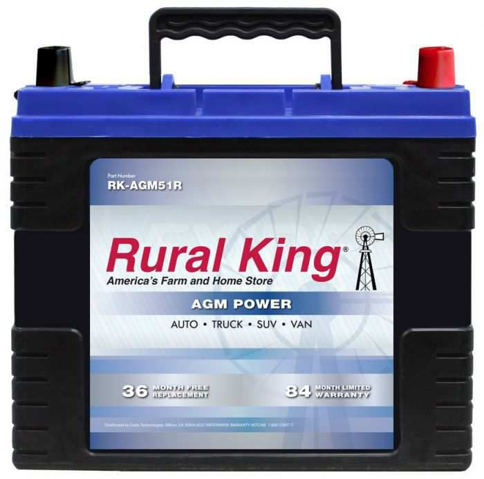 Rural King Automotive Agm Group 51r Battery Rk Agm51r Clarksville