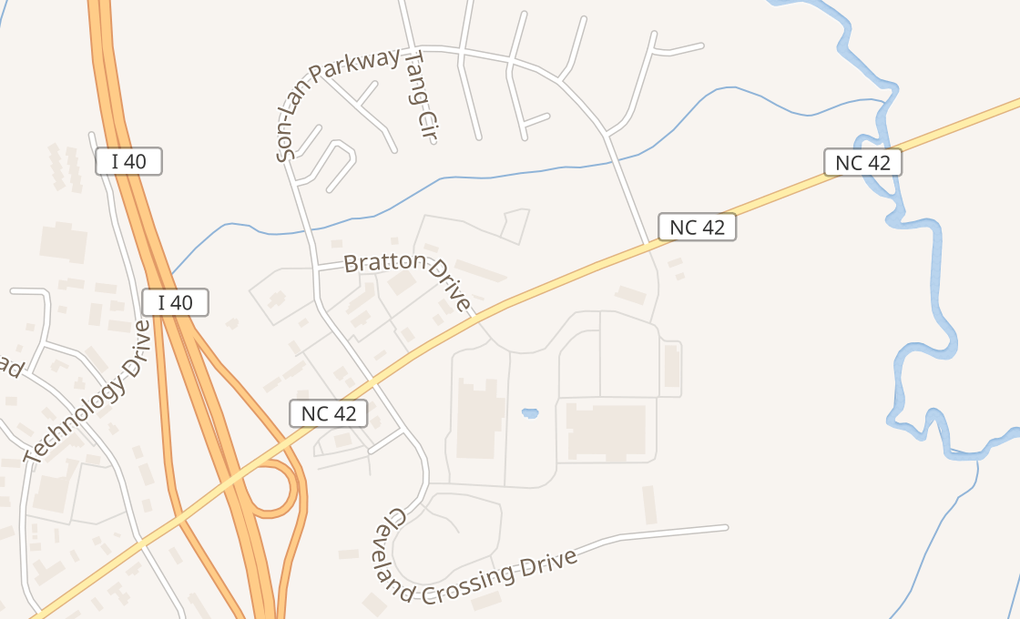 map of 5121 Nc Hwy 42 W Ste 100Garner, NC 27529