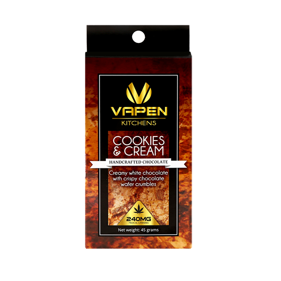 Cookies and Cream Chocolate Bar   120mg - VAPEN CLEAR