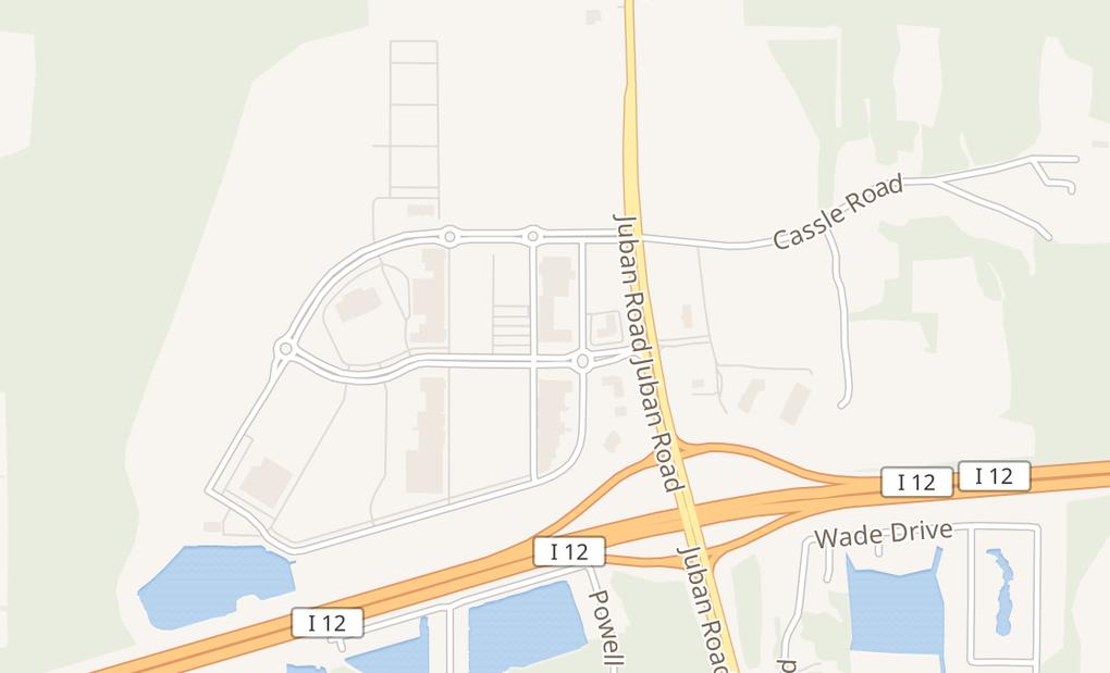 map of 10130 Crossing Way Ste 375Denham Springs, LA 70726