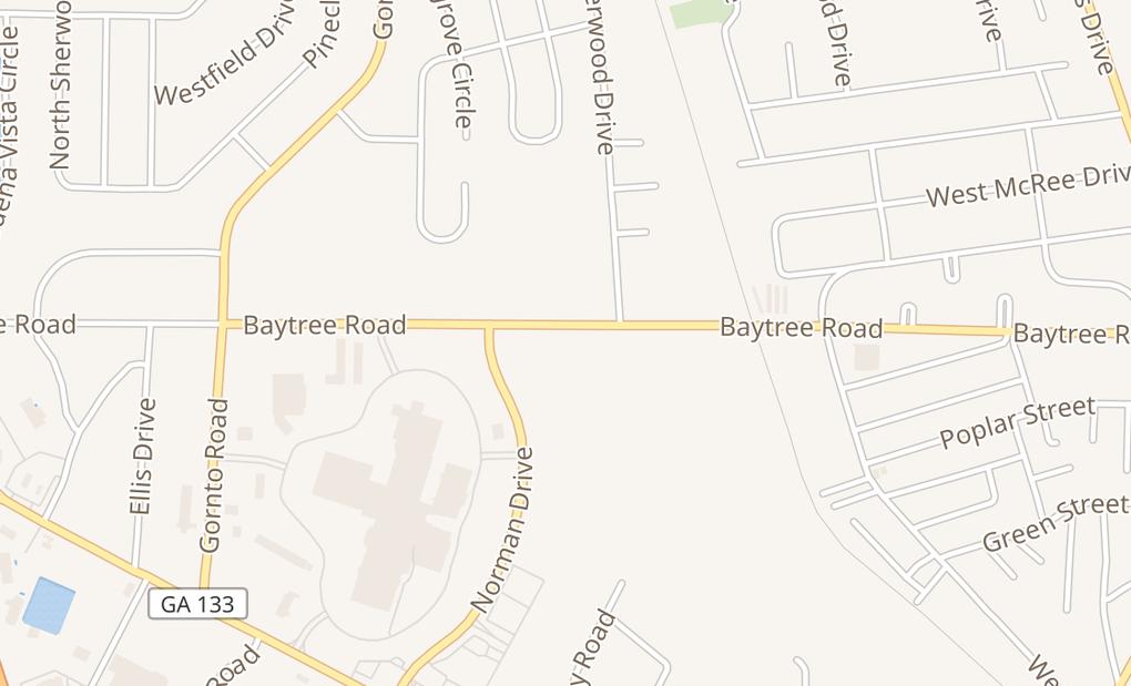 map of 1525 Baytree Rd Ste AValdosta, GA 31602