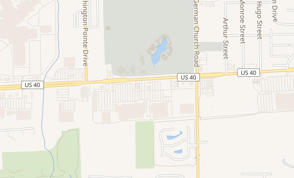 map of 10745 E Washington St Unit CIndianapolis, IN 46229