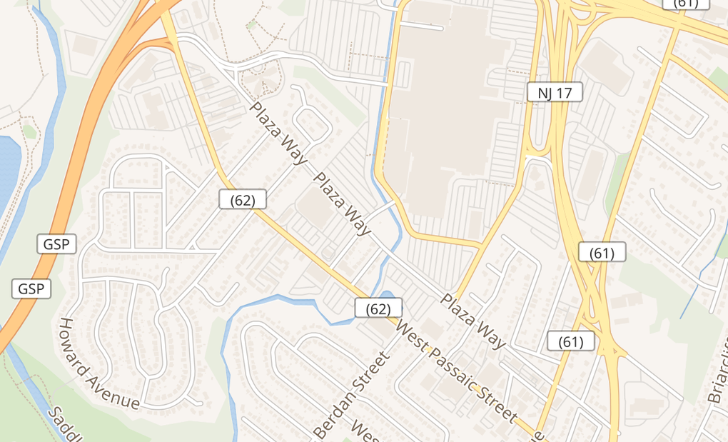 map of 1 Garden State Plz Ste 2229Paramus, NJ 07652