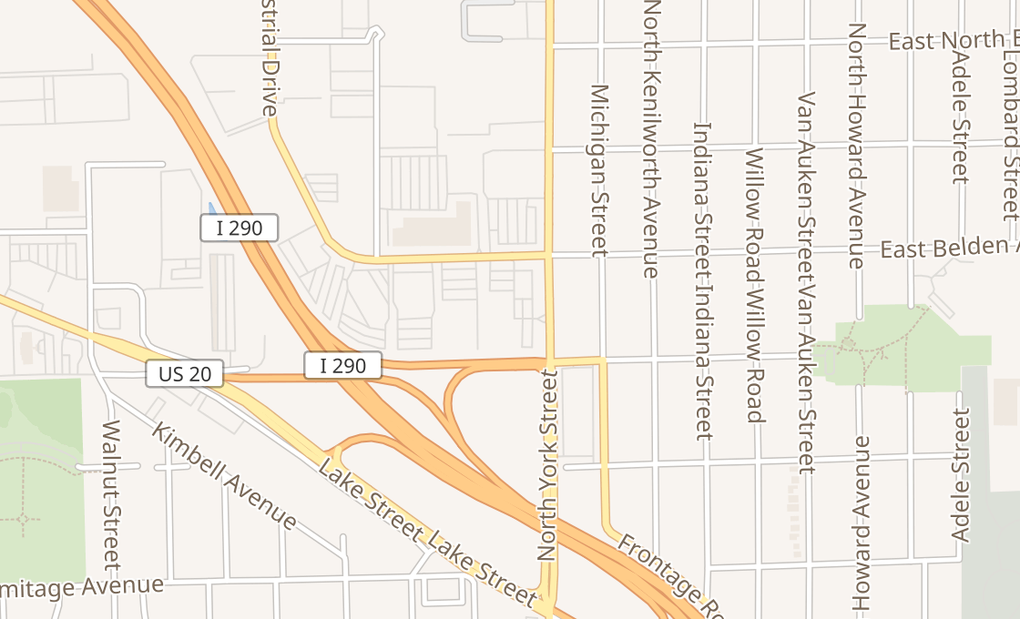 map of 624 N York St Unit CElmhurst, IL 60126