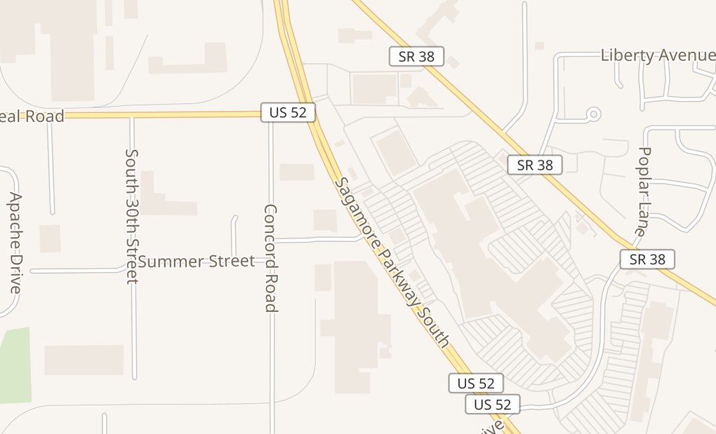 map of 2415 Sagamore Pkwy S Spc 23Lafayette, IN 47905