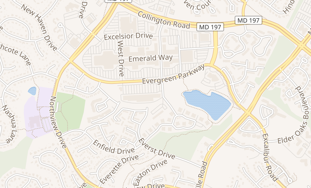 map of 3901 Evergreen PkwyBowie, MD 20716