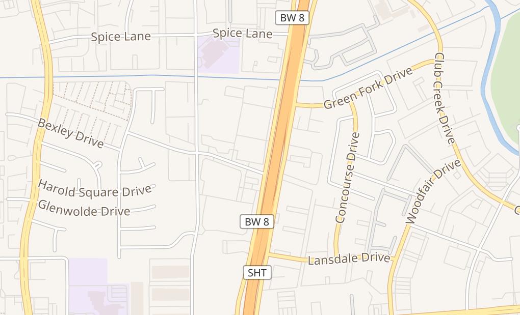map of 9380 W Sam Houston Pkwy #100Houston, TX 77099