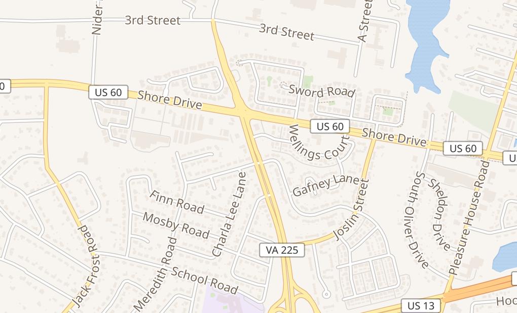 map of 2052 S Independence Blvd Ste 1Virginia Beach, VA 23453