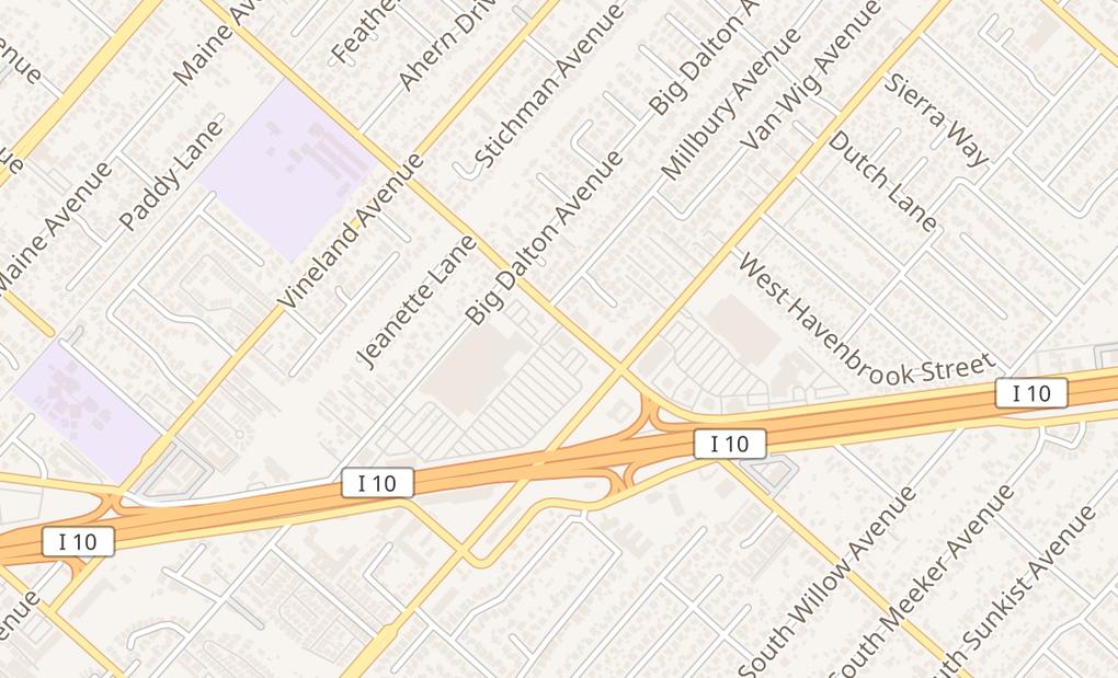 map of 14460 Merced Ave Unit 110Baldwin Park, CA 91706