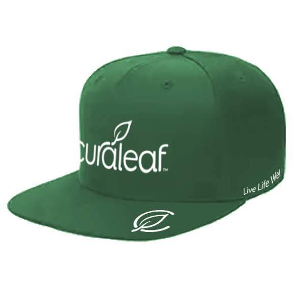 Hat | L/XL Fitted Flat Bill Green with C-logo - IN HOUSE FARM