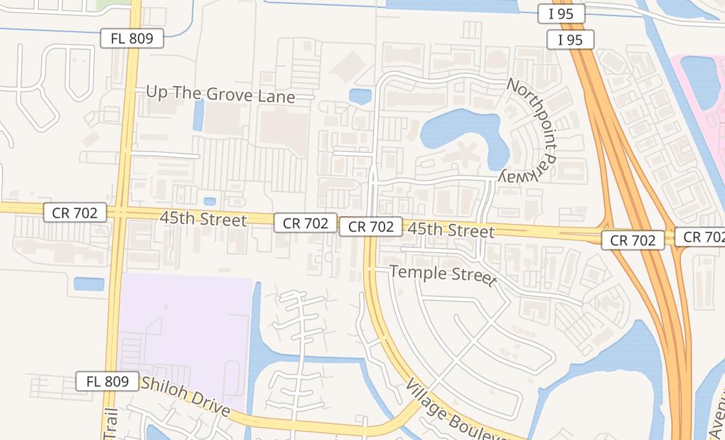 map of 3111 45th St Ste 8West Palm Beach, FL 33407